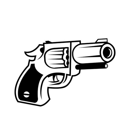 Military Weapon of gun. Vector Illustration