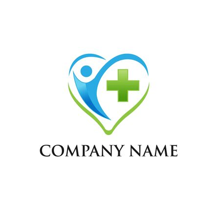 Logo design template for clinic, hospital, medical center, doctor