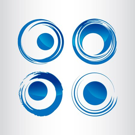 Abstract circle logo template. Round ring circle and infinity loop symbol, technology icon, circle line logo. Company logo transportation. Vector illustration