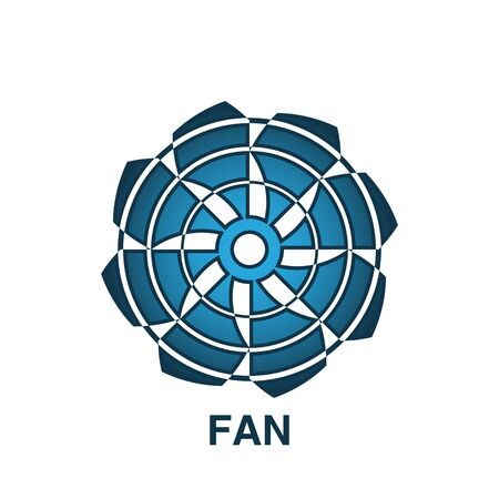 fan icon trendy and modern fan symbol for logo, web, app, UI. fan icon simple sign. fan icon flat vector illustration for graphic and web design