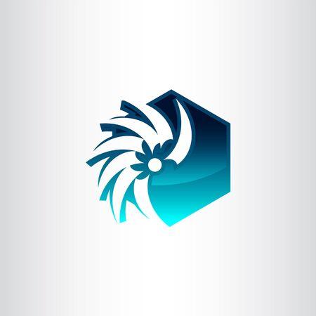 Hexagon abstract logo. Vector logo template. Design element