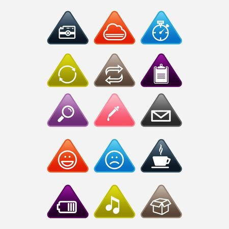 Complete vector set of mobile phones and smartphones interface outline icon set, symbols and elements Illusztráció
