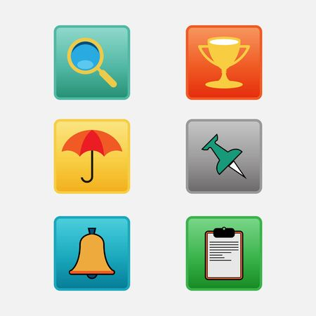 Complete vector set of mobile phones and smartphones interface outline icon set, symbols and elements Illustration
