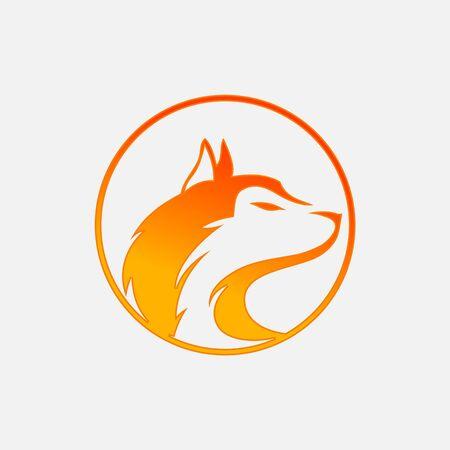 Vector wolf Vintage Design Element. Wolf logo. Wolf icon. Black silhouette wolf. Vector illustration on white background