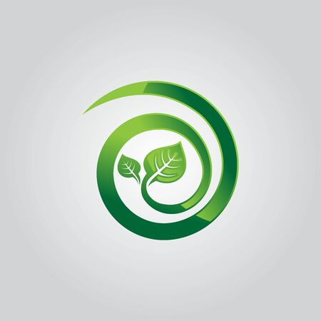 Design shape leaf logo and abstract organic leaf logo. Leaf logo eco graphic creative template. Environment decoration modern leaf emblem