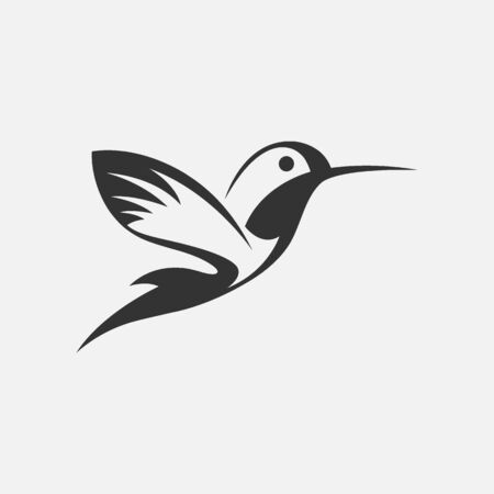 birds with spread flittering wings. Swallow, parrot or dove bird symbol of freedom and peace or interior decor design