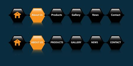 Web button for website, click here color tag illustration.EPS 8
