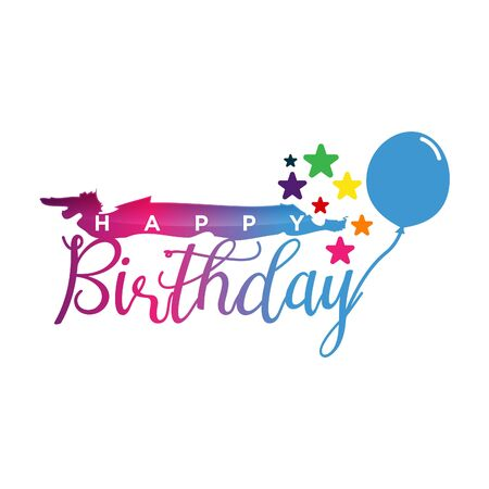 Vector colorful letter happy birthday to you concept design