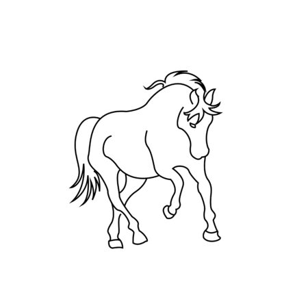 horse standing on three paws Icon Vector, horse standing on three paws Icon Eps, horse standing on three paws Icon Illusztráció