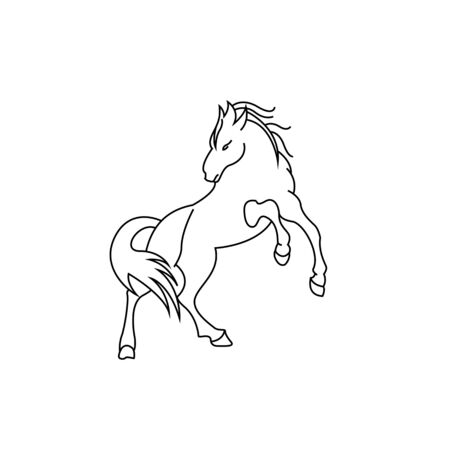 horse standing on three paws Icon Vector, horse standing on three paws Icon Eps, horse standing on three paws Icon Illustration