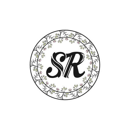 SR Letter Logo Design with Creative Modern Trendy Typography and Black Colors.
