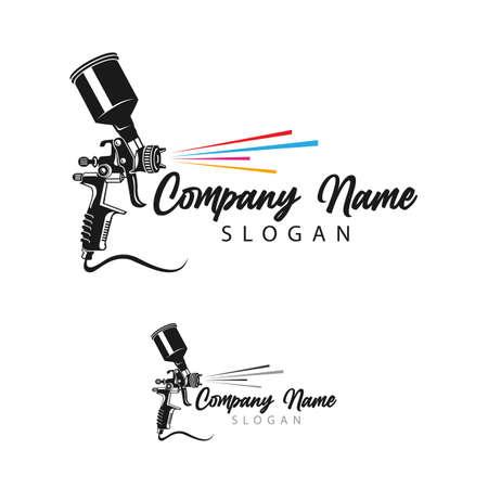 Painting logo designs template vector, Art Logo template, Spray Gun Painting logo