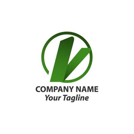 V letter logo design vector Logó