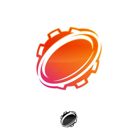 Gear Planet Icon Logo Design Element