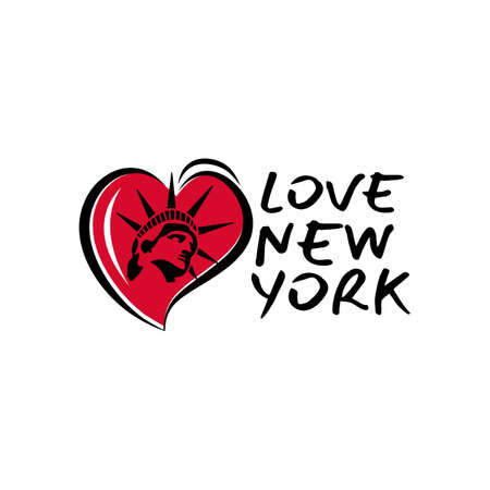 I Love New York Design On white Background vector illustration