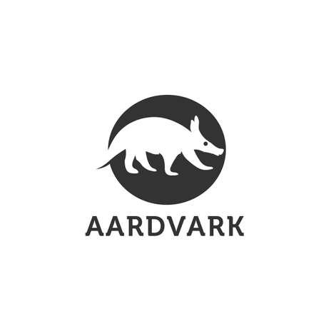 Aardvark animal sketch engraving vector illustration. Scratch board style imitation. Hand drawn image. Vector Illustration