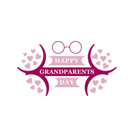 Grandma and grandpa vector illustration. Design for grandparents day greeting card, flyer, poster, banner or t-shirt. Older persons.