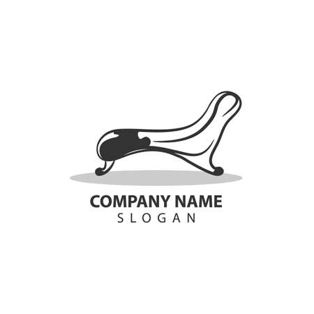 Furniture logo with chair concept. This logo is ideal for an furniture company, interior design company, decor expert, production company, etc. Vector illustration
