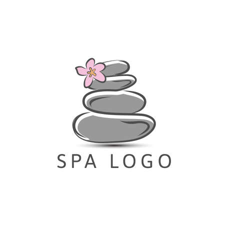 SPA - template logo for Spa lounge, beauty salon, massage area, yoga center, natural cosmetics etc