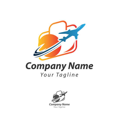 Leisure travel logo template. Tourism emblem, leisure center