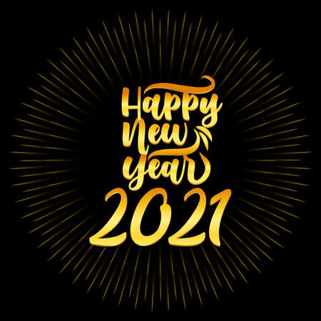 Happy New Year elegant design of colored 2021 logo numbers. Typography for 2021 save the date luxury designs and new year celebration invite.