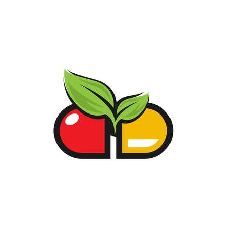 herbal capsule pill leaf medicine drug logo vector icon download.