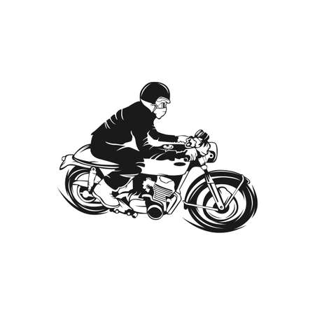 Vintage motorcycle infographic. Cafe racer theme. Vector Illustration