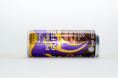 KUALA LUMPUR, MALAYSIA - OCT 18, 2015: Wonda Coffee, manufactured and distributed by Permanis Sdn Bhd which is a subsidiary of Asahi Group, Japan. Editorial