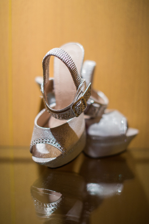 The shoes used by the bride during the wedding ceremony.