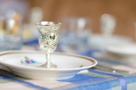 argent: Russian table appointments Stock Photo