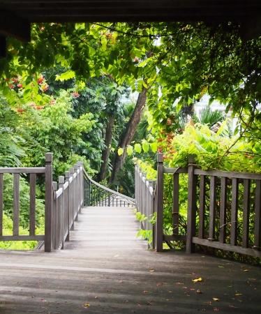 Las escaleras a Secret Garden Foto de archivo