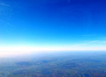 horizonte en el vuelo