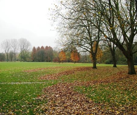Europe Autumn Park Stock Photo
