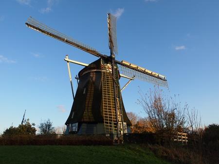 Amsterdam tradicional molino de viento