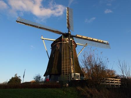 traditional windmill: Amsterdam traditional windmill  Editorial
