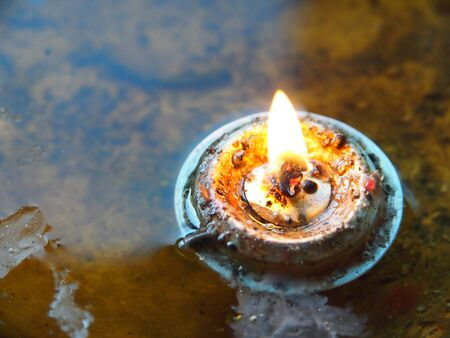 An oil lamp Stock Photo