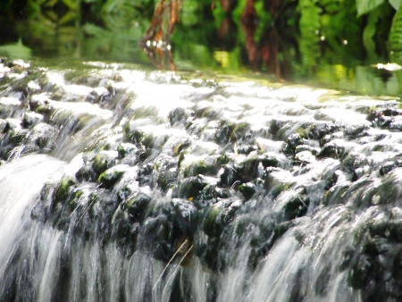 close up running water