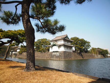 A corner building of Japan Imperial Palace