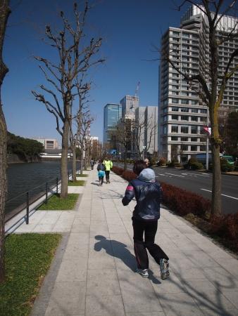 jogging runners at Tokyo Japan