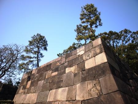 Giant Stone Wall Foto de archivo