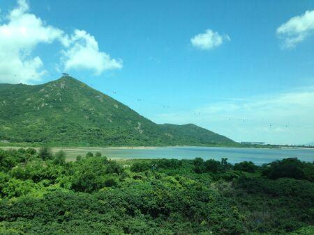 lantau: La bella giornata di Lantau Island a Hong Kong Archivio Fotografico