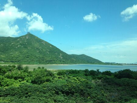 The beautiful day of Lantau island in Hong Kong