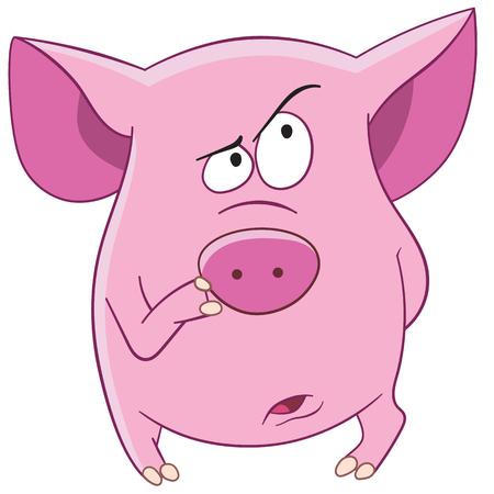 Matériaux pour projet DIY 44585372-cochon-rose-pense