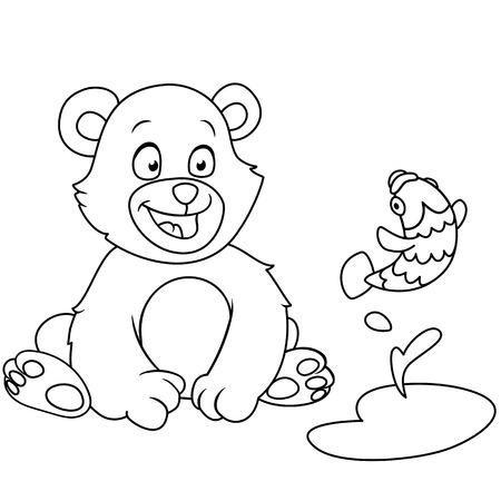 jumping fish: bear is looking at a jumping fish