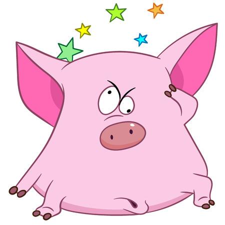 maim: cute pig is feeling vertiginous