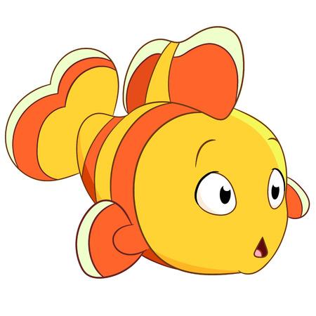 wonderment: cute little clownfish is wondering