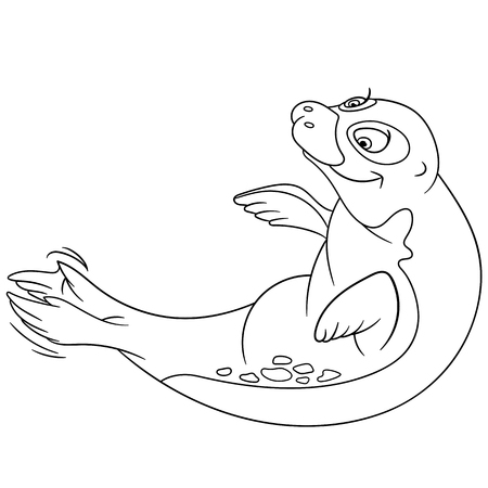 clapping: cute playful seal is clapping Illustration