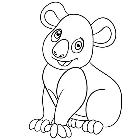 retiring: cute koala is sitting and smiling Illustration