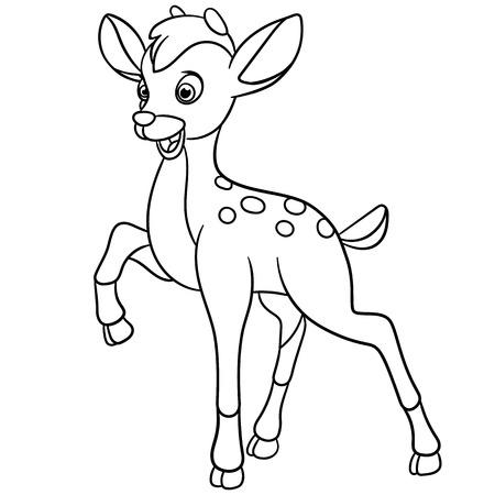 jeunes joyeux: happy young deer is walking