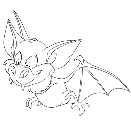 incubus: cute funny bat is hunting on halloween